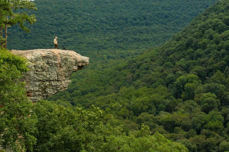 hiking the Ozarks, Five-Star Trails: The Ozarks, Jim Warnock, Hiker-Dog,