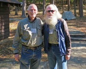 Two Menasha Ridge Authors meet in the Ouachitas Jim Warnock and Nimblewill Nomad