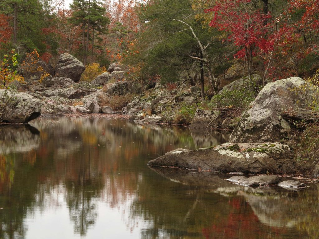 Rocky Creek on the Ozark Trail in Missouri