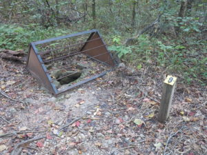 Historical well next to the Homesteaders Trail