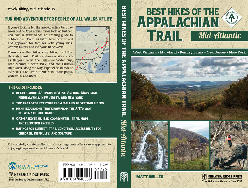 Best Hikes of the Appalachian Trail: Mid-Atlantic, Appalachian Trail hiking, Matt Willen, easy day hikes on the AT