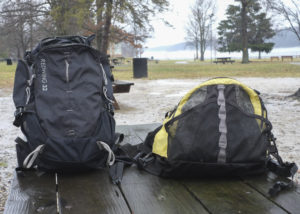 My summer pack on the right and winter pack on the left.