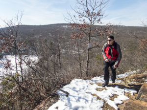 At the top of a steep section of the AT near Canopus Lake, NY, January 2016