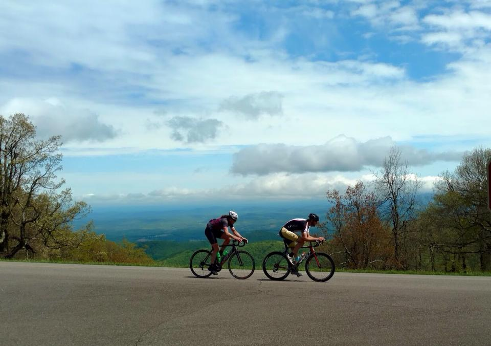 Blue Ridge Parkway, Skyline Drive, Bicycling the Blue Ridge, Libby Skinner, Assault on Mt. Mitchell, cycling trips,